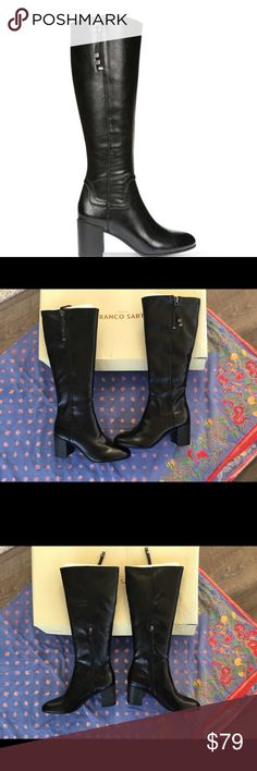 Franco Sarto women's Nostalgia black dress boots NWT Franco Sarto Nostalgia boots.  A great staple for your wardrobe!  No flaws- New in box. Franco Sarto Shoes Heeled Boots