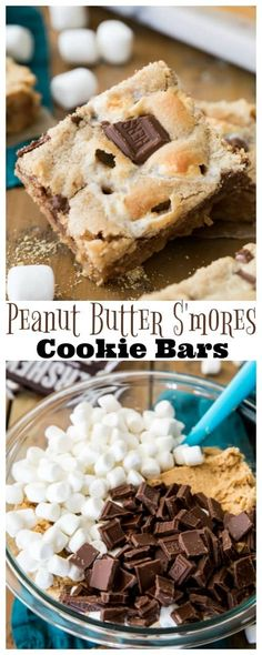 These PEANUT BUTTER S\'MORES COOKIE BARS are my new favorite way to enjoy S\'mores! With a chewy, graham cracker infused peanut butter cookie base, lots of mini marshmallows and real milk chocolate, these are incredible! #smores #campfirerecipe #baking #cookiebars #dessert via Sugar Spun Run || Samantha Merritt