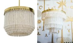 I keep on seeing this fringed pendant light by Hans Agne Jakobsson from 1960's(pictured above left). I noticed it first on Pinterest, and then I saw it again in person while visiting The Apartment by The Linein West Hollywood a few weeks ago. I love this lamp, it's a real honey, but the price …