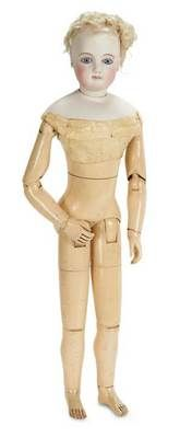 French fashion.  Wooden jointed body