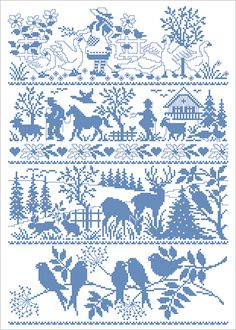 Silhouetten, country lifestyle cross stitch