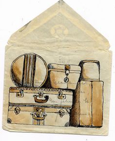 #illustration  #luggage  #envelope