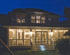 Southern Living Screened Back Porches   Found on houzz.com