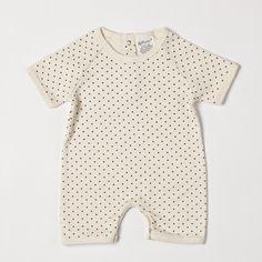 Organic Cotton Romper - Dots
