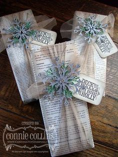 Vintage-Inspired Gift Packaging, Snow flurry die