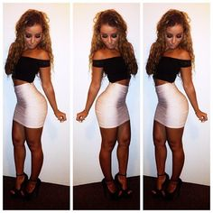 Love the skirt body con skirt crop top