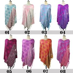 Womens's Evening Shawls Poncho Floral Scarves Stole Wrap 100% Cotton Soft Scarf #Handmade #Pashmina