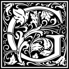 Free Clipart: William Morris Letter G | Symbol | kuba