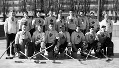 "Albert Pudas (on the top left), the first Finnish born to ever play in the NHL. Coached the Port Arthur Bearcats - ""Team Canada"" of the 1936 Winter Olympics in  Garmisch-Partenkirchen"