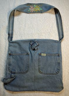 Recycled denim overalls