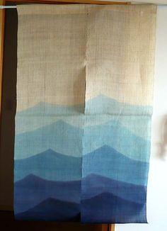 Japanese Door Curtain NOREN hemp tapestry wall decor. $190.00, via Etsy.