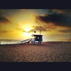 a life guard house on Santa Monica Beach, California 2012.05.19
