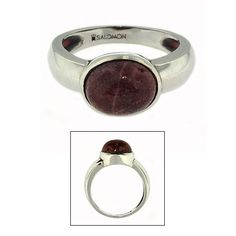 Sterling Silver Beach Stone Ring from the Coast of Maine $130
