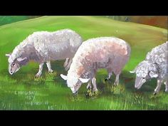 How to Paint Sheep in Acrylics Beginner Real-Time Tutorial - YouTube - Artist- The Frugal Crafter