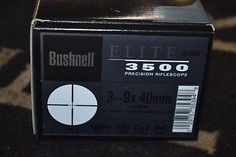 ﹩154.99. Bushnell Elite 3500 3-9x40mm Silver Rifle Scope Multi-X Reticle NIB 353940S4  Lens Diameter - 40mm, Maximum Magnification - 9X, Color - Silver, Reticle - Multi X,