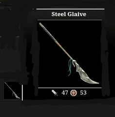 Adventure drop Weapon (Steel Glaive 47A - 53D)