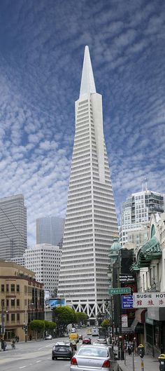 Hated it when first built; now it is part of my favorite city - The Transamerica Pyramid - San Francisco Photograph San Francisco City, San Francisco Travel, San Francisco California, Amazing Buildings, Amazing Architecture, Modern Buildings, Places To Travel, Places To See, Transamerica Pyramid