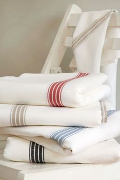 Provincial Stripe White Tablecloths...Totally handmade in South African...