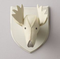 RH baby&child's Wool Felt Moose Head:Soft wool felt puts a friendly twist on the iconic animal busts, with contrasting felt accents that give these lovable creatures their irresistible character.