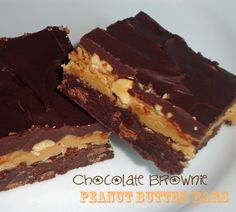 Chocolate Brownie Peanut Butter Bars-for serious chocolate and peanut butter lovers!
