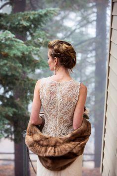 Winter wedding bride - so enchanting!