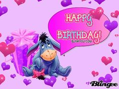 happy birthday from eeyore | Eeyore birthday Picture #29954501 | Blingee.com