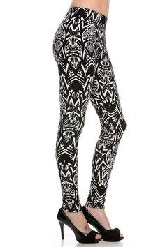 Print & Patterned Stretch Leggings