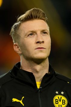 Marco Reus of Borussia Dortmund looks on prior to the UEFA Champions League Round of 16 Second Leg match between Borussia Dortmund and Tottenham Hotspur at Westfalen Stadium on March 2019 in. Get premium, high resolution news photos at Getty Images North Rhine Westphalia, Soccer Kits, Uefa Champions League, Tottenham Hotspur, Soccer Players, That Look, Wallpapers, Image, Sports