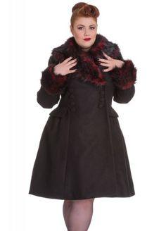 Hell Bunny Rock Noir Plus Coat, £102.99