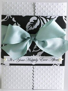 Elegant Bow Wedding Card