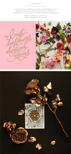 I must have flowers.   In Bloom lookbook   Rifle Paper Co.
