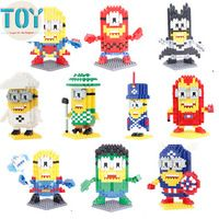New with Box Cosplay Minions Blocks Models Building Toys Despicable Me Collection Kids Toys Gifts 10 Styles Free Tracking