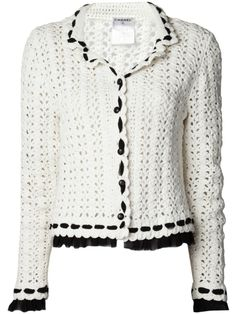 CHANEL double collar crochet jacket by: CHANEL