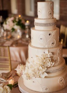 10 Wedding Bling Ideas That Are SO Major: All Dressed Up Cakes. Ask your baker to use food-grade rhinestones or cleaned vintage jewelry to decorate the cake (just be sure they're removed before serving).