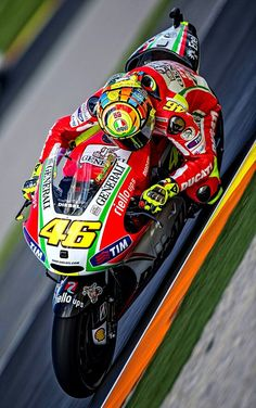 VR 46 Valentino Rossi during GP of the Comunitat Valenciana, on November Ducati - Not a great time for Vale but looks good! Gp Moto, Moto Bike, Course Moto, Valentino Rossi 46, Motorcycle Racers, My Champion, Xjr, Vr46, Super Bikes