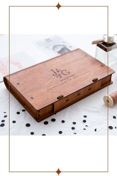 Photo box from wood by LAvenueStudio. Custom wooden box with leather top for photos. Personalized Wooden photo box is the best wedding gift for friends Photo Storage Boxes, Best Photo Storage, Picture Storage, Wedding Gifts For Friends, Best Wedding Gifts, Wooden Photo Box, Custom Wooden Boxes, Custom Photo, Photo Gifts