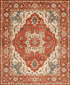 Ottoman - Serapi 49 - Samad - Hand Made Carpets Orange Rugs, Ottoman, Carpets, Handmade, Home Decor, Farmhouse Rugs, Rugs, Hand Made, Decoration Home