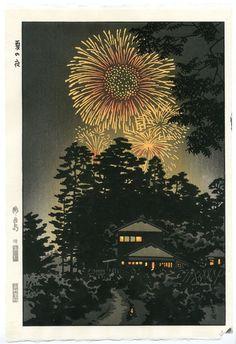 Kasamatsu Shiro JAPANESE Woodblock Print SHIN HANGA Natsu no Yoru - Summer Night #Unsodo