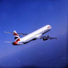 Airbus A321 in flight