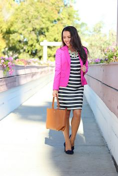 Banana Republic Striped Tweed Dress_-2 by Stylish Petite, via Flickr