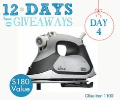 Enter to win this #Oliso Iron as part of our 12 Days of Giveaways!  http://thermoweb.com/blog/white-holiday-christmas-stocking/