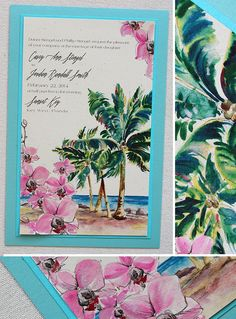 Tropical wedding invitation - Rick Ink/Momental Designs