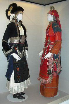 Folk Costumes, Benaki Museum (Athens) by David. Greek Traditional Dress, Traditional Outfits, Kai, Dance Costumes, Greek Costumes, Benaki Museum, Costumes Around The World, Ethnic Dress, Fashion Project