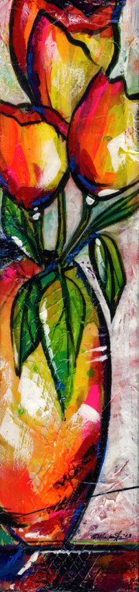 Floral Fantasy ..  20... Original Painting by Kathy Morton Stanion