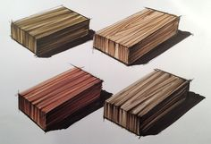 Wood with prismacolor markers
