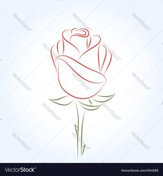 Vector image of Rose Vector Image, includes red, design, drawing, flower & petal. Illustrator (.ai), EPS, PDF and JPG image formats.