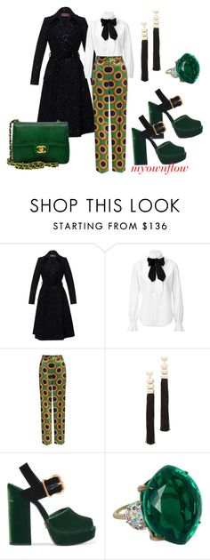 """""""IN THE BUILDING"""" by myownflow ❤ liked on Polyvore featuring Lena Hoschek, Ralph Lauren Collection, Dsquared2, Rosantica, Prada and Chanel"""