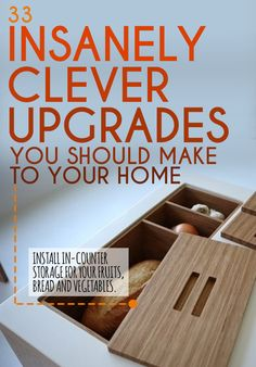33 Insanely Clever Upgrades To Make To Your Home :: Love these!!