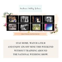 Here's to a cosy wedding planning approach this weekend.  #nationalweddingshow