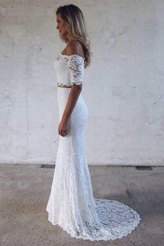 Wedding dress from Grace Loves Lace. Rental Wedding Dresses, Wedding Dress Shopping, Dream Wedding Dresses, Bridal Dresses, Wedding Gowns, Civil Wedding, Lace Weddings, 2 Piece Wedding Dress, Boho Wedding Dress